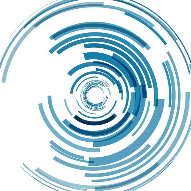illustrazioni stock, clip art, cartoni animati e icone di tendenza di blue ring pattern background - motivo concentrico
