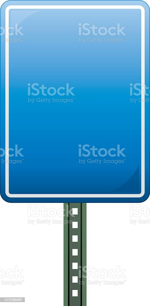 Blue Road Sign royalty-free stock vector art