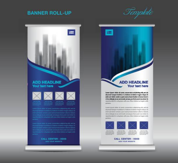 royalty free roll up banner clip art vector images illustrations