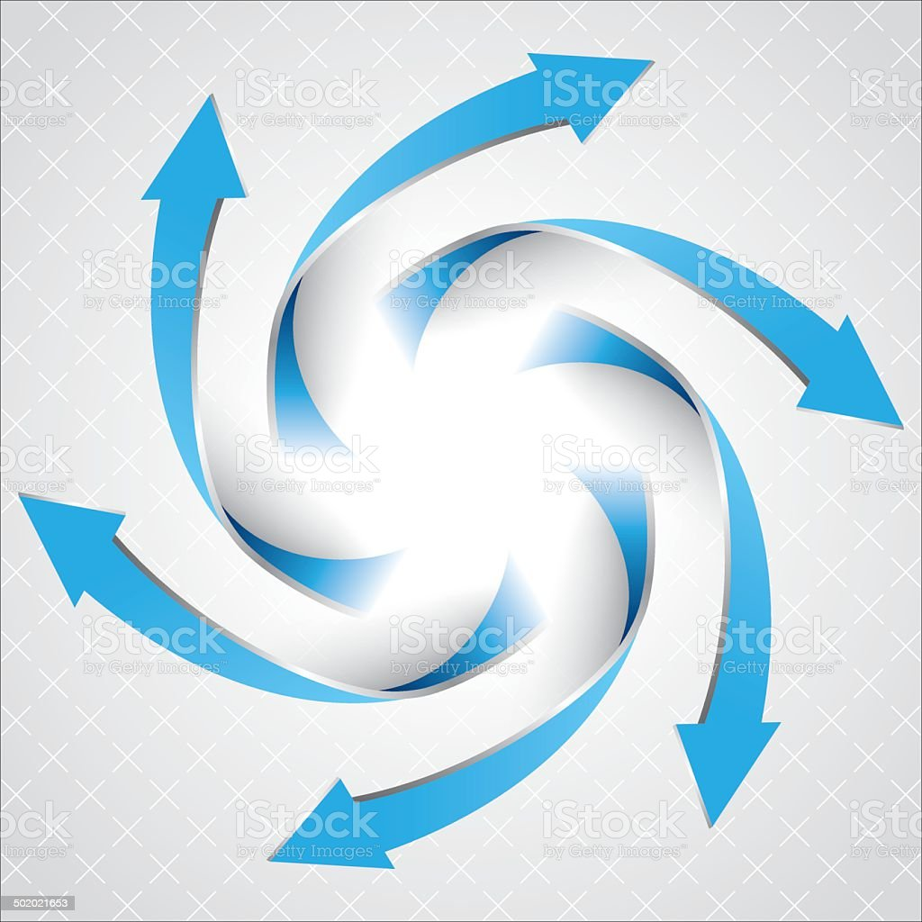 Blue rotate arrow vector art illustration