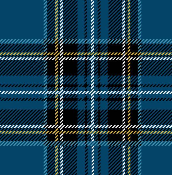 blue royal stewart tartan - stripped pattern stock illustrations, clip art, cartoons, & icons