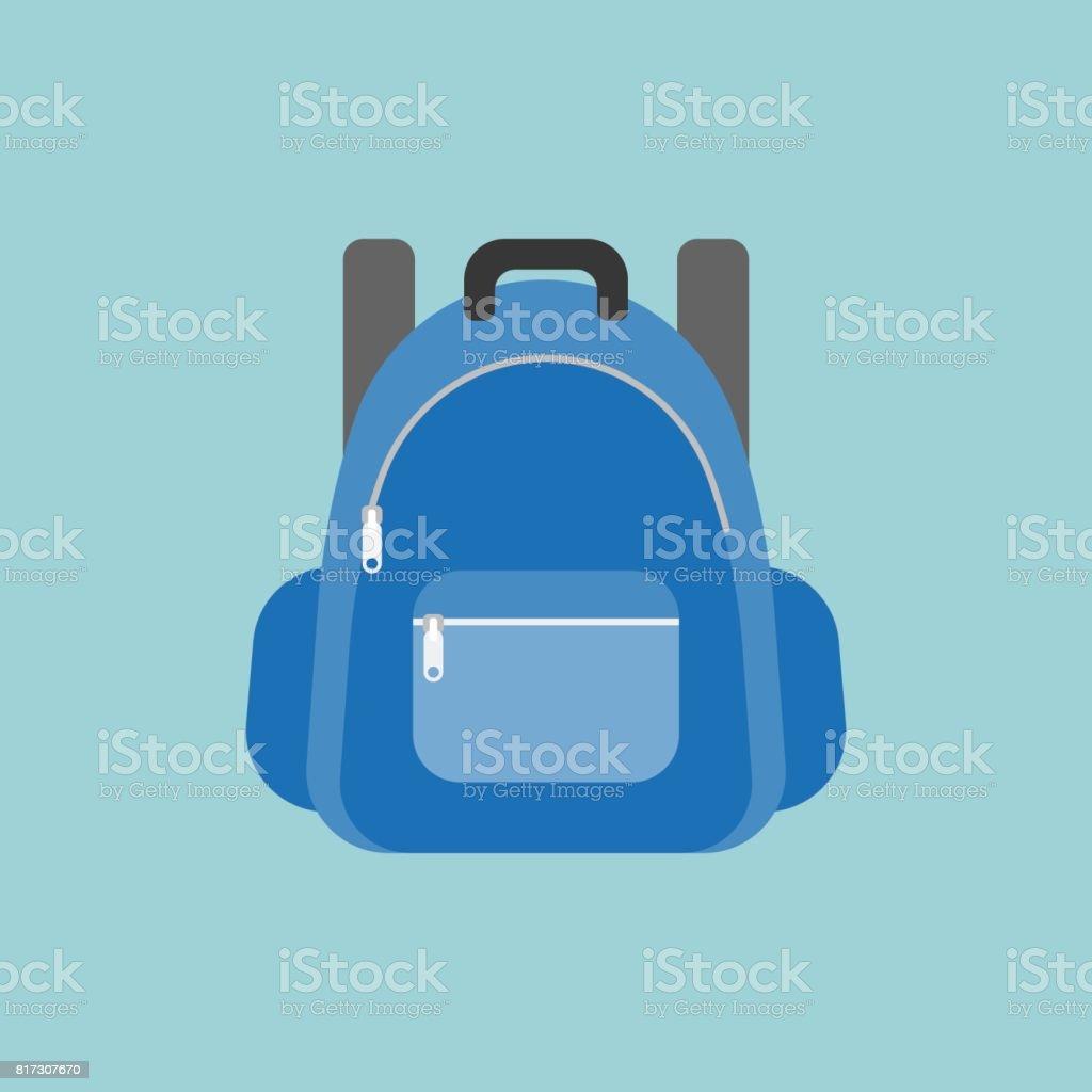 blue rucksack or backpack illustration vector art illustration