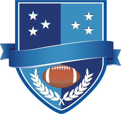 Blue Rugby Badge