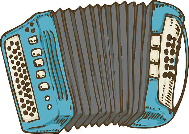 Blue Russian Bayan or Accordion – Vektorgrafik