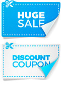 Sale and discouunt special offer coupons with copy space.