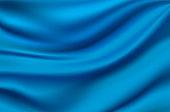 Blue satin silk luxury material cloth background. Vector illustration. EPS10