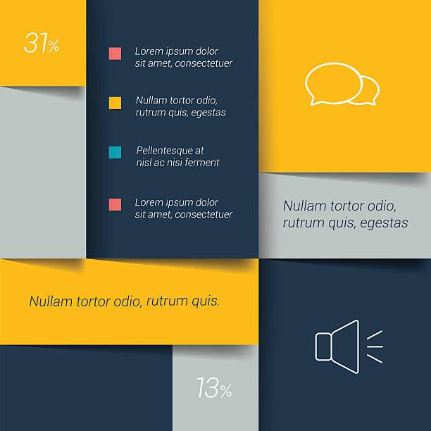 blue plan, lasche, banner. minimalistische vektor-design-infografik. - tischarrangements stock-grafiken, -clipart, -cartoons und -symbole