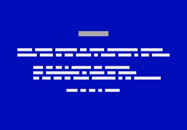 stockillustraties, clipart, cartoons en iconen met blue screen of death bsod. achtergrond van crash rapport. vector - green screen