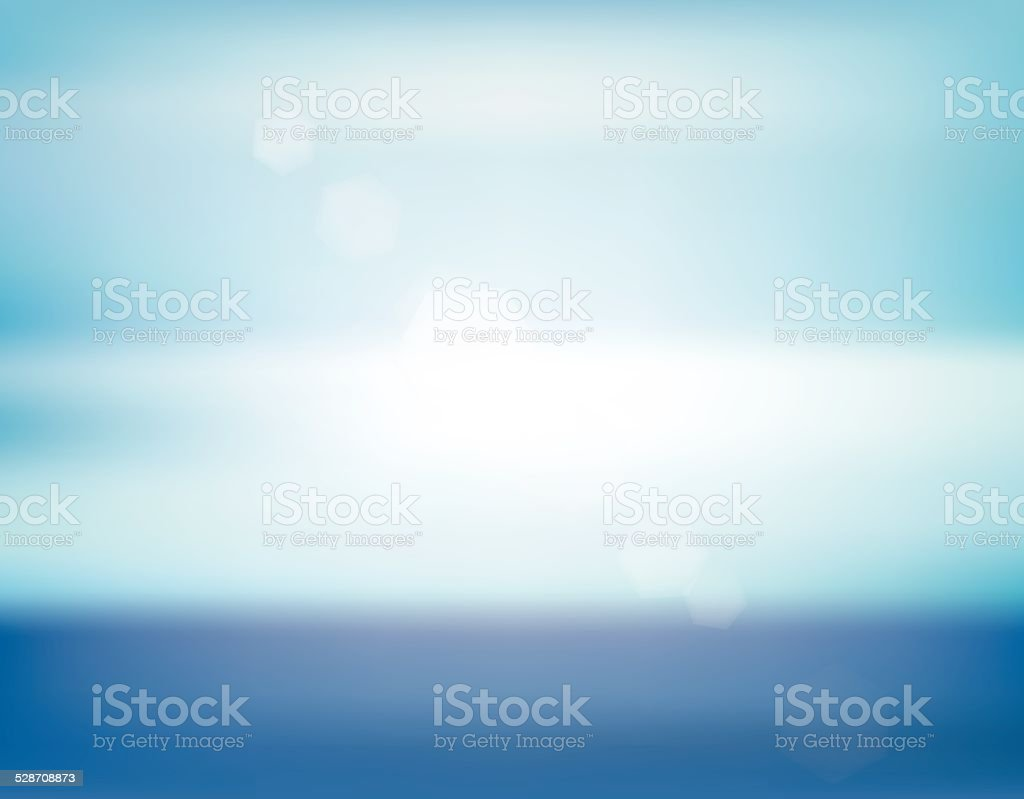 Blue sea abstract blurry background vector art illustration