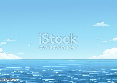istock Blue Sea Background 1210270993
