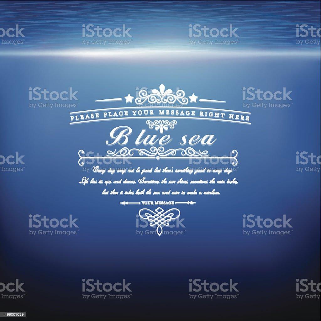 blue sea royalty-free stock vector art