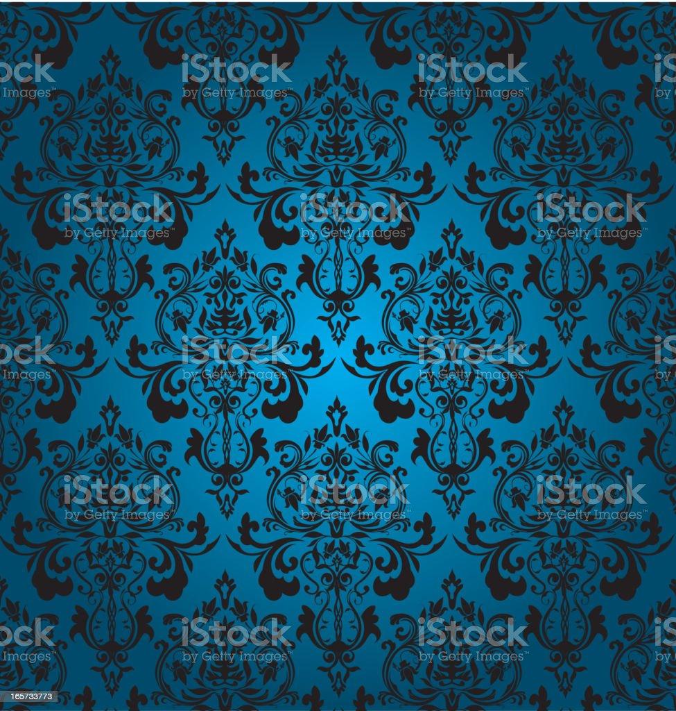 Blue Seamles Wallpaper vector art illustration