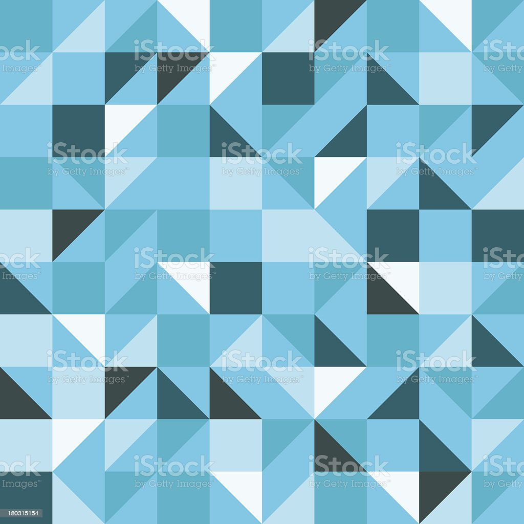 Blue Seamless Triangle Pattern royalty-free stock vector art