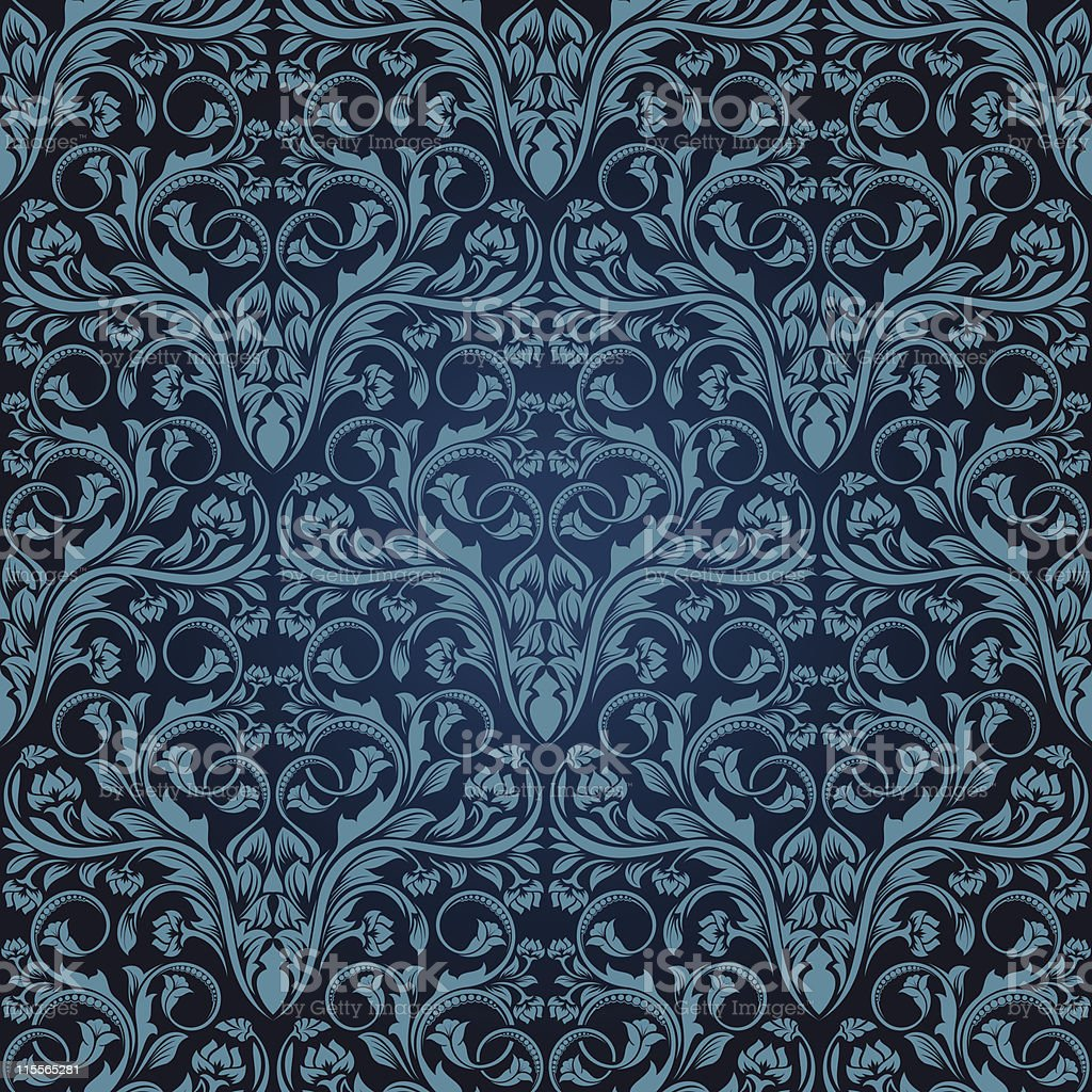 Blue seamless wallpaper royalty-free blue seamless wallpaper stock vector art & more images of backgrounds