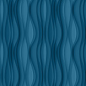 Vector blue seamless Wavy background texture. Wave pattern