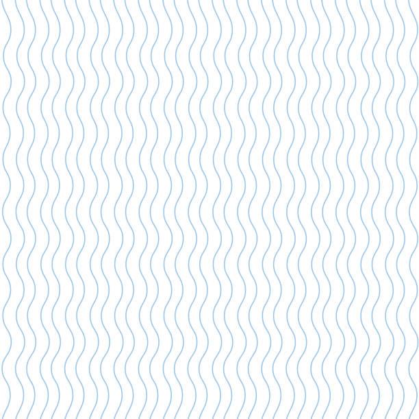 stockillustraties, clipart, cartoons en iconen met blauwe naadloze golvende lijn patroon vectorillustratie - golvend haar