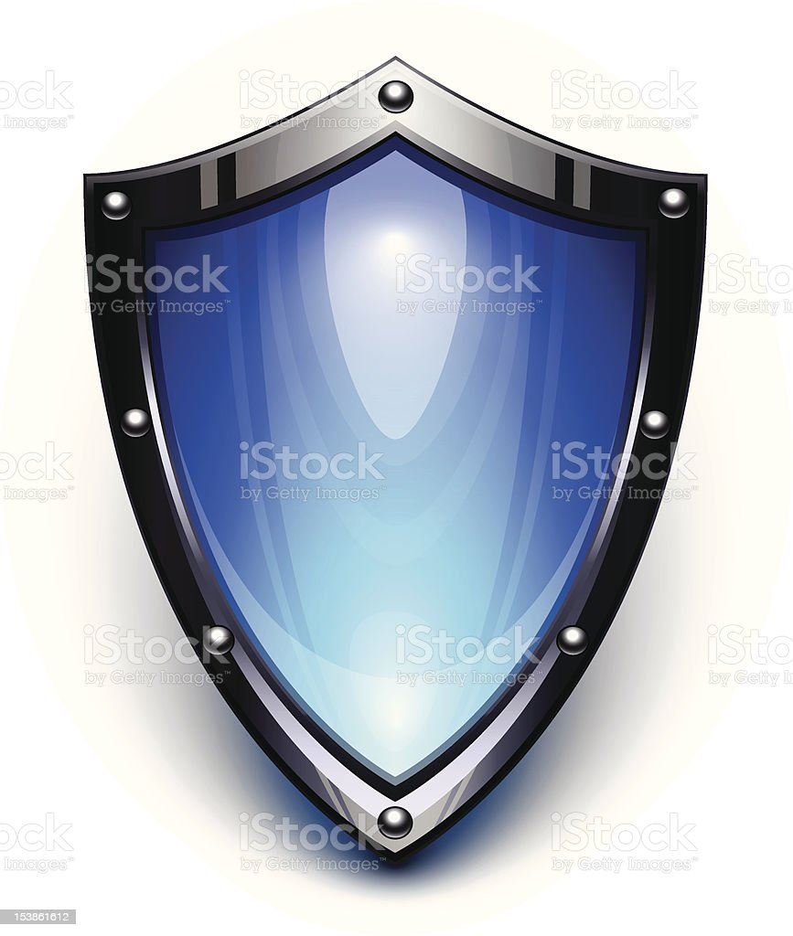 Blue security shield royalty-free stock vector art