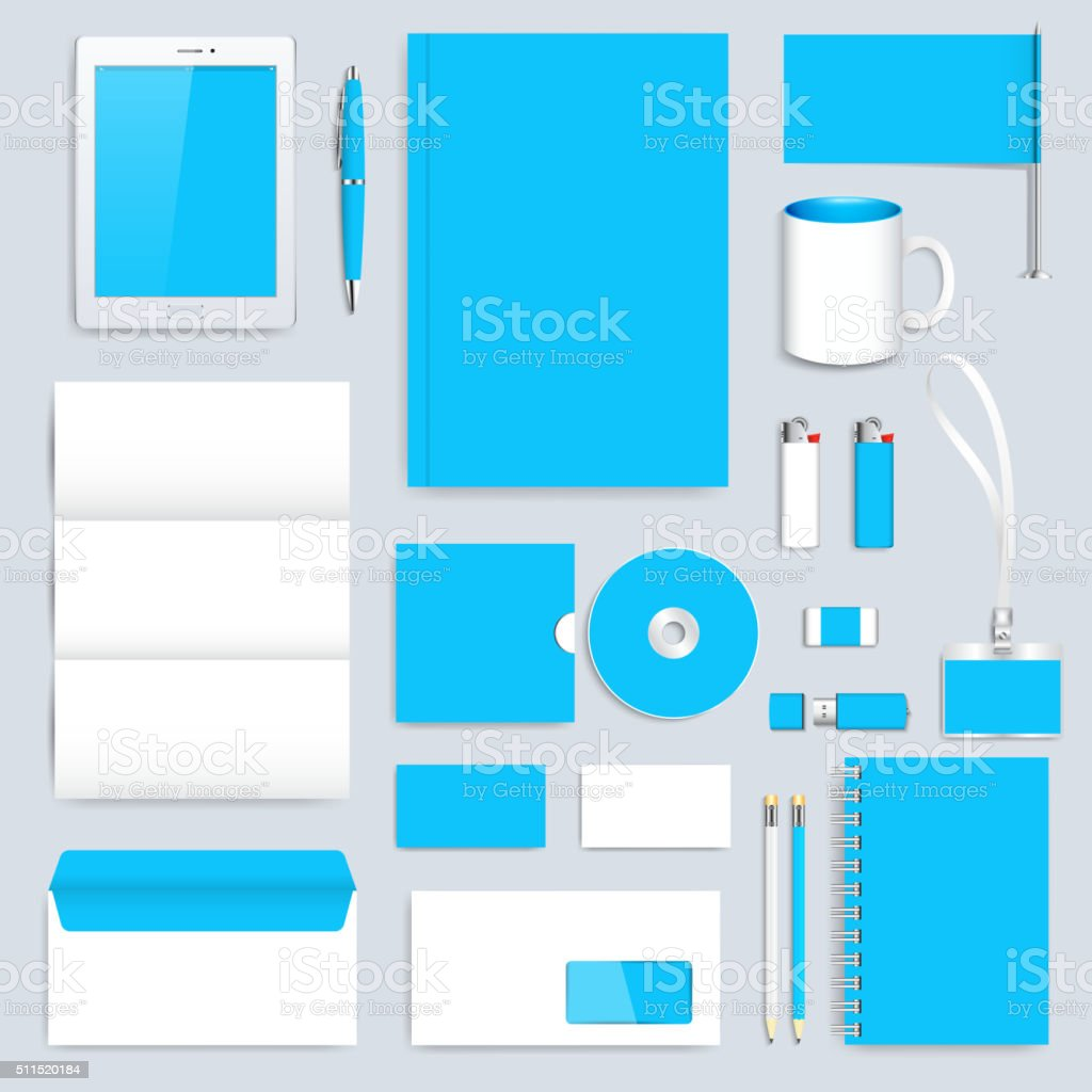 Blue set of vector corporate identity template modern business blue set of vector corporate identity template modern business stationery royalty free blue set cheaphphosting Image collections