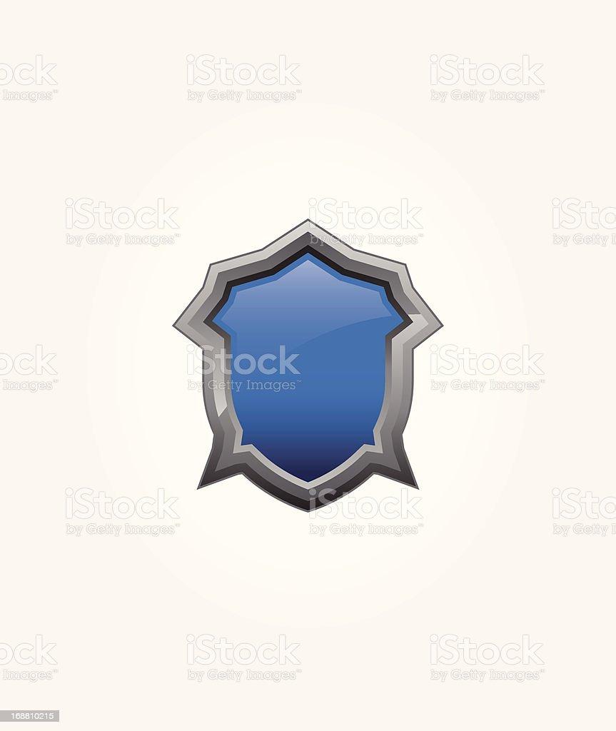 Blue Shield royalty-free stock vector art