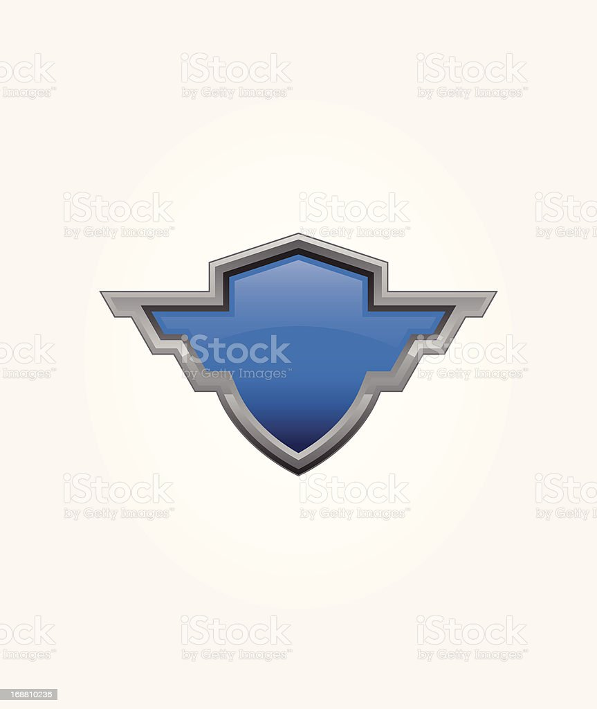Blue Shield royalty-free stock vector art