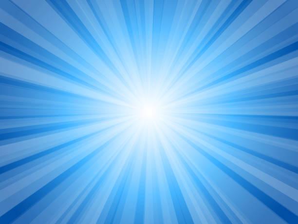blaue glanzstrahlen platzen - ausstoßen stock-grafiken, -clipart, -cartoons und -symbole