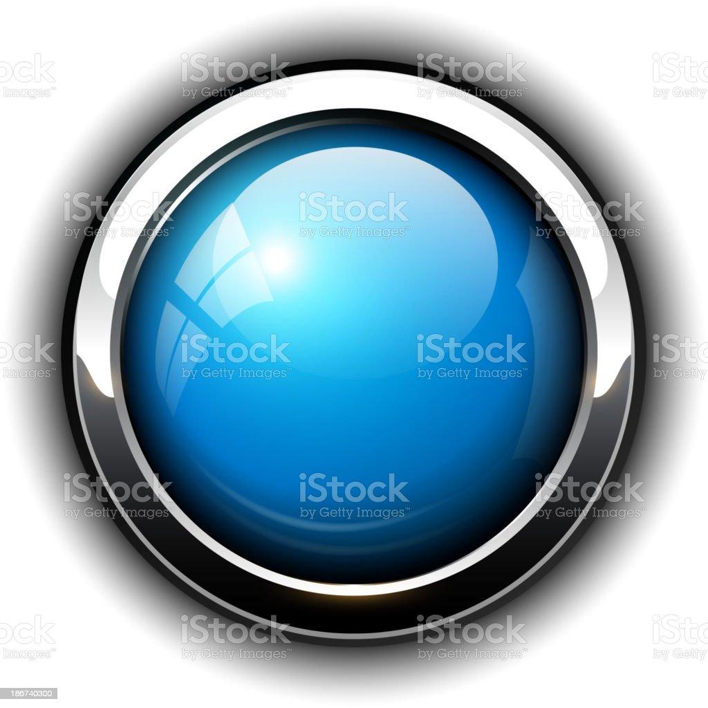 Blue shiny button royalty-free stock vector art