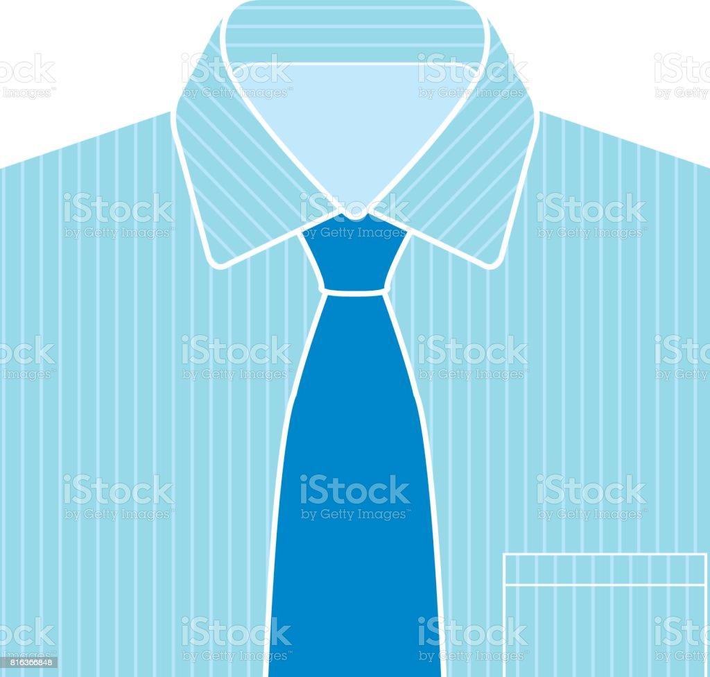 Chemise Bleue Et Cravate Vector Cliparts Vectoriels Et Plus D