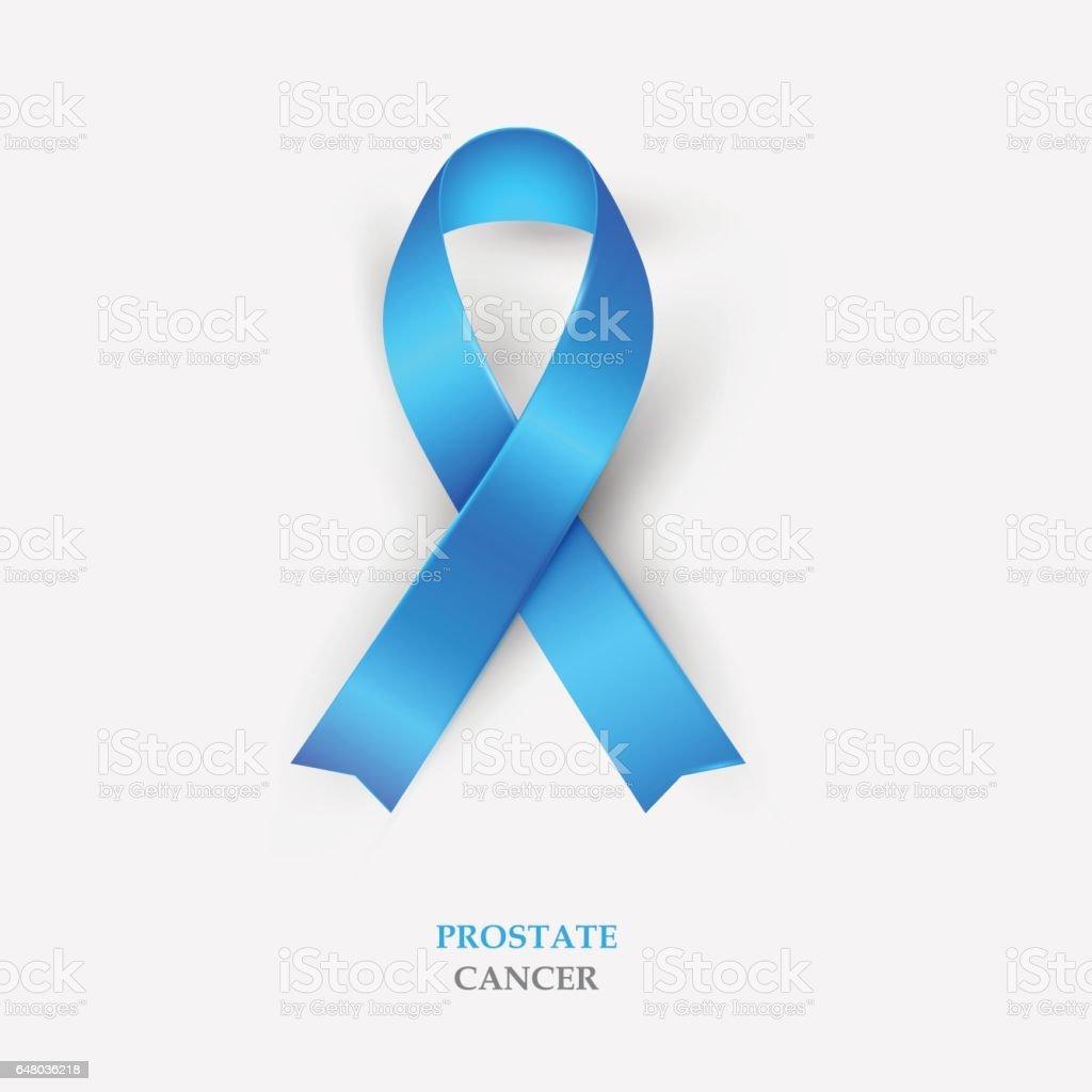 Blue Silk Ribbon - Prostate Cancer Awareness vector art illustration