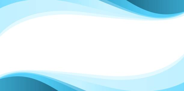 Blue Simple Abstract Background Blue Simple Abstract Background curve stock illustrations