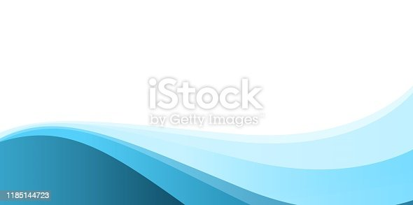 istock Blue Simple Abstract Background 1185144723