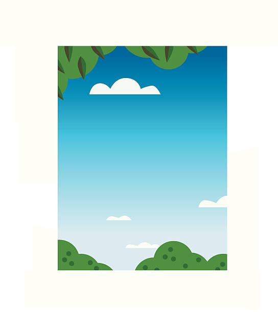 Blue Skies vector art illustration