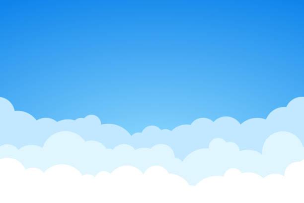 青い空と雲シームレスなベクトルの背景。 - 空点のイラスト素材/クリップアート素材/マンガ素材/アイコン素材