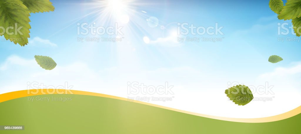 Blue sky and green leaves banner blue sky and green leaves banner - stockowe grafiki wektorowe i więcej obrazów abstrakcja royalty-free