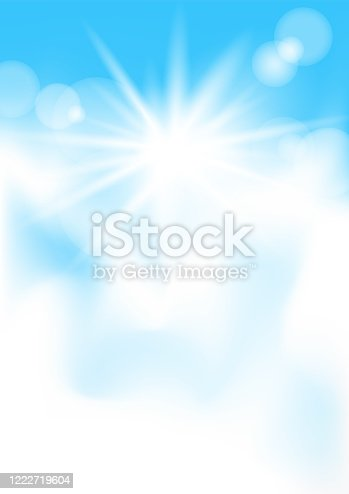 istock blue sky and sun lights vertical mockup 1222719604