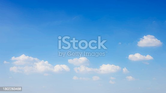 istock Blue sky background with clouds. Vector illustration eps 10 1302263458