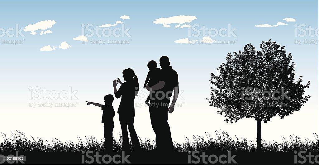 Blue Sky Family royalty-free stock vector art
