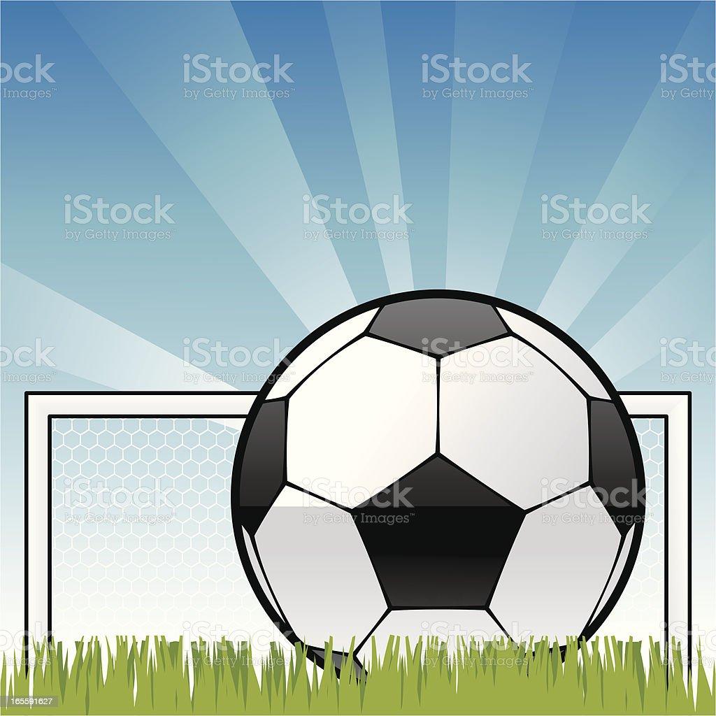 Blue Sky Football vector art illustration