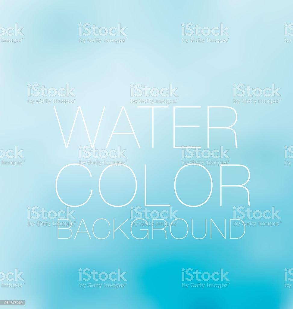 blue sky spot. watercolour background, vector backdrop - Royalty-free Aanhankelijk vectorkunst