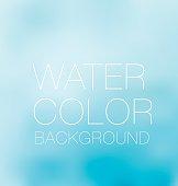 blue sky spot. watercolour background, vector backdrop, digital illustration, blurred design element.