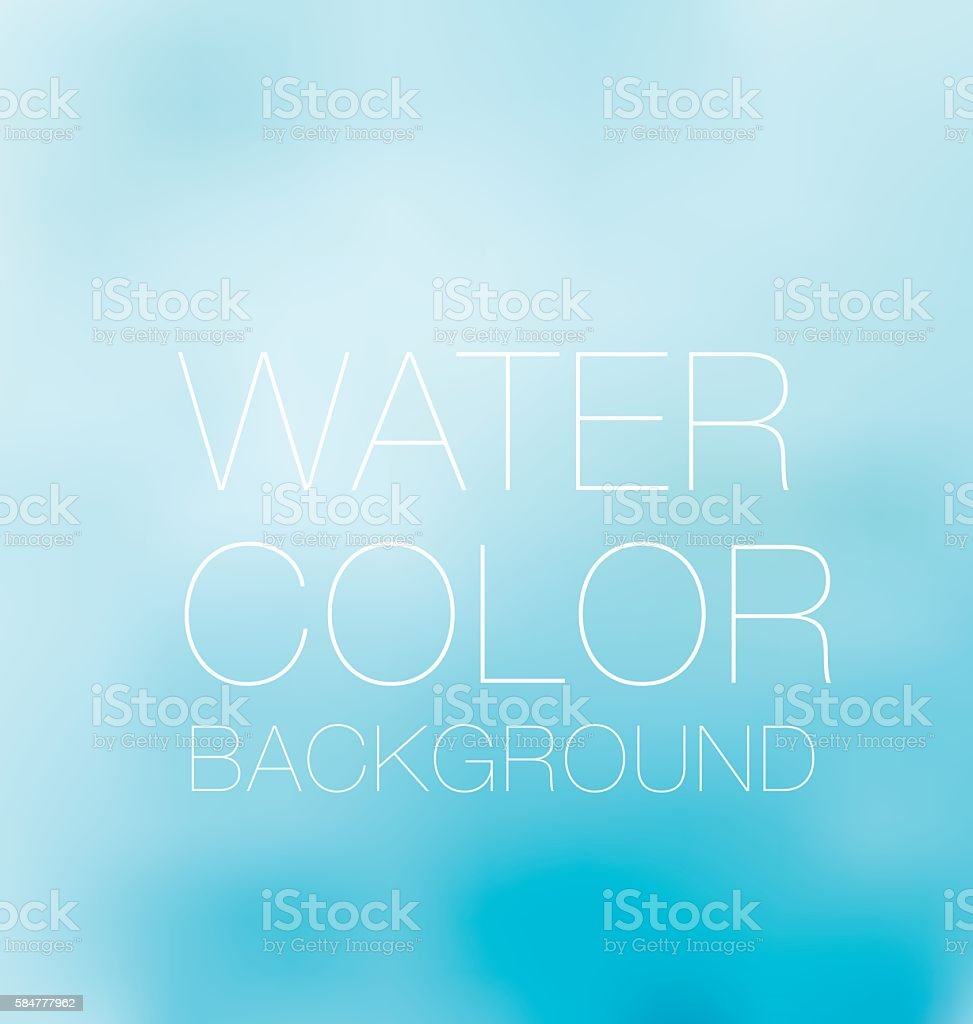 blue sky spot. watercolour background, vector backdrop vector art illustration