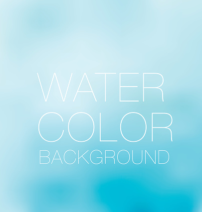 Blue Sky Spot Watercolour Background Vector Backdrop Stockvectorkunst en meer beelden van Aanhankelijk