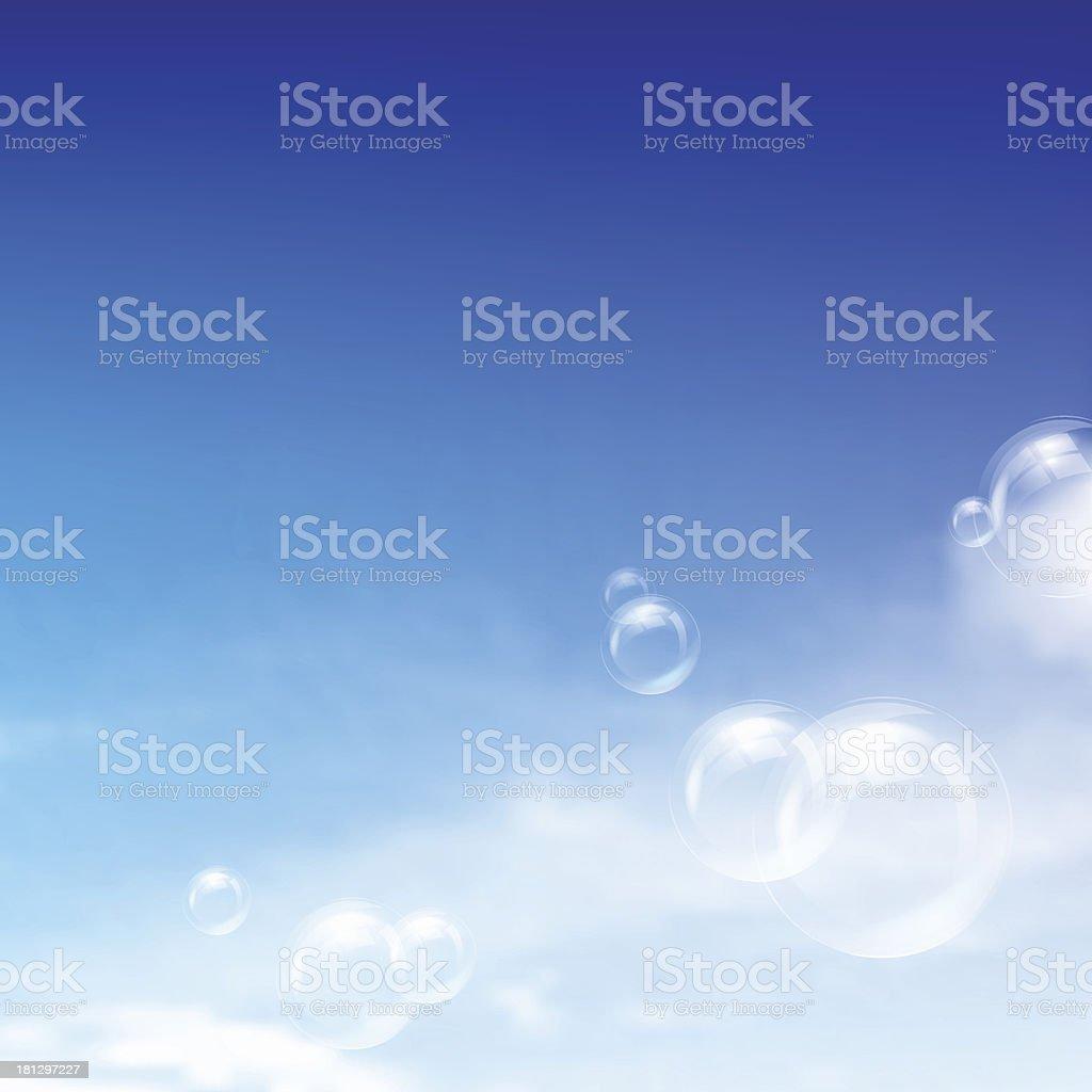 Blue sky royalty-free stock vector art