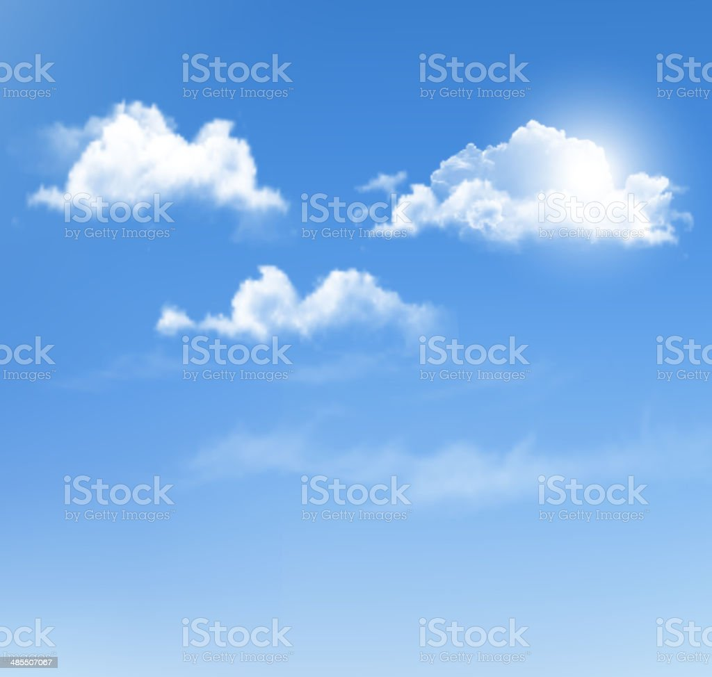 Blue sky with clouds. Vector background. royalty-free stock vector art