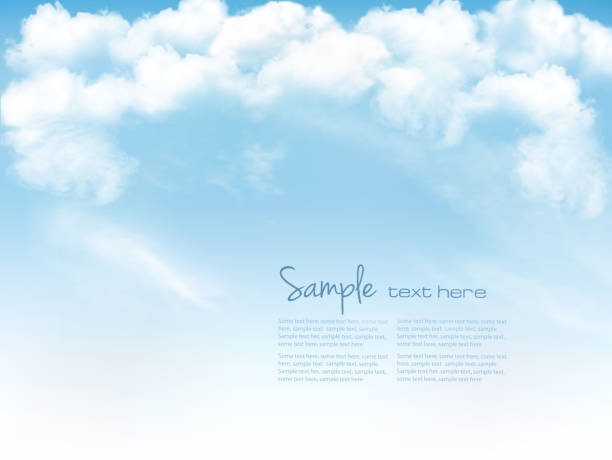 Blue sky with clouds. Vector background Blue sky with clouds. Vector background heaven stock illustrations