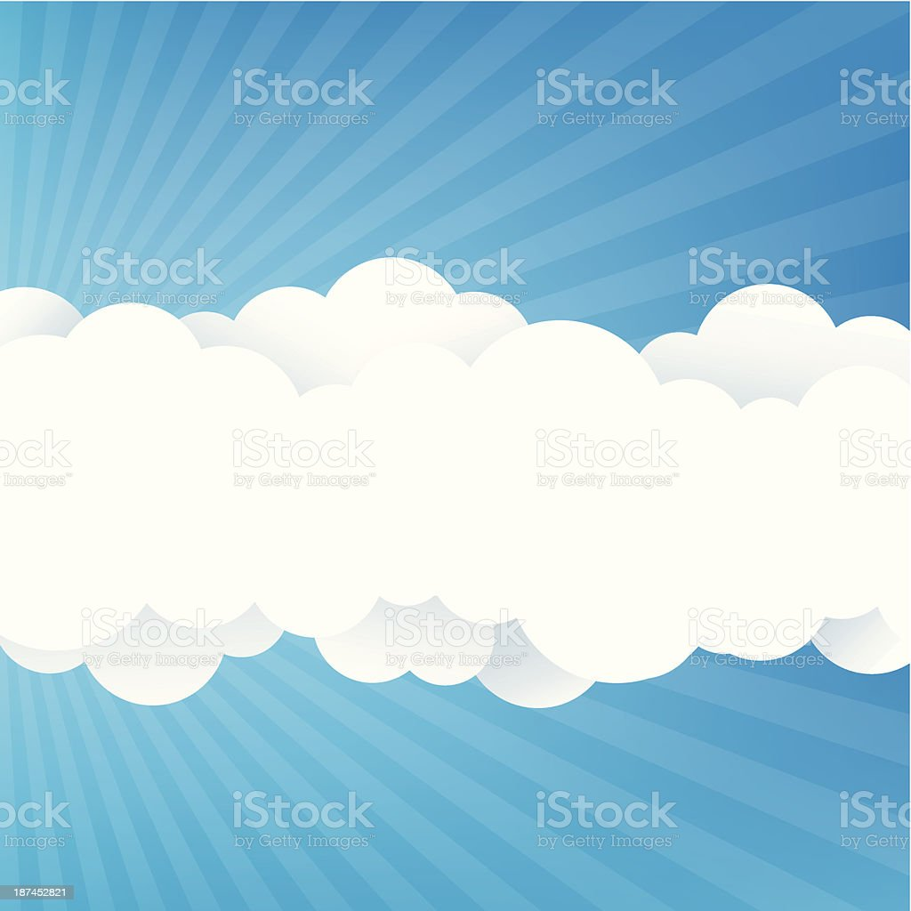 Blue Sky With Clouds royalty-free stock vector art