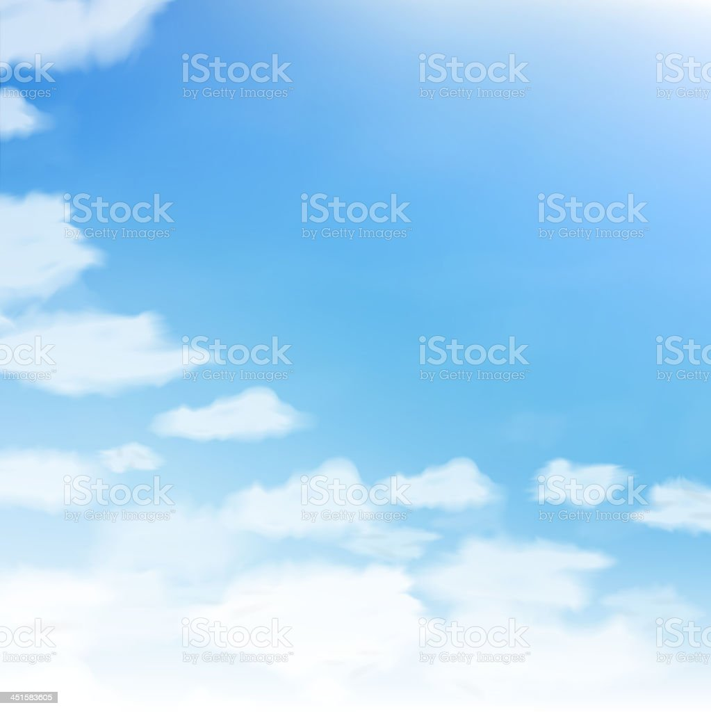 Blue sky with clouds. royalty-free blue sky with clouds stock vector art & more images of abstract