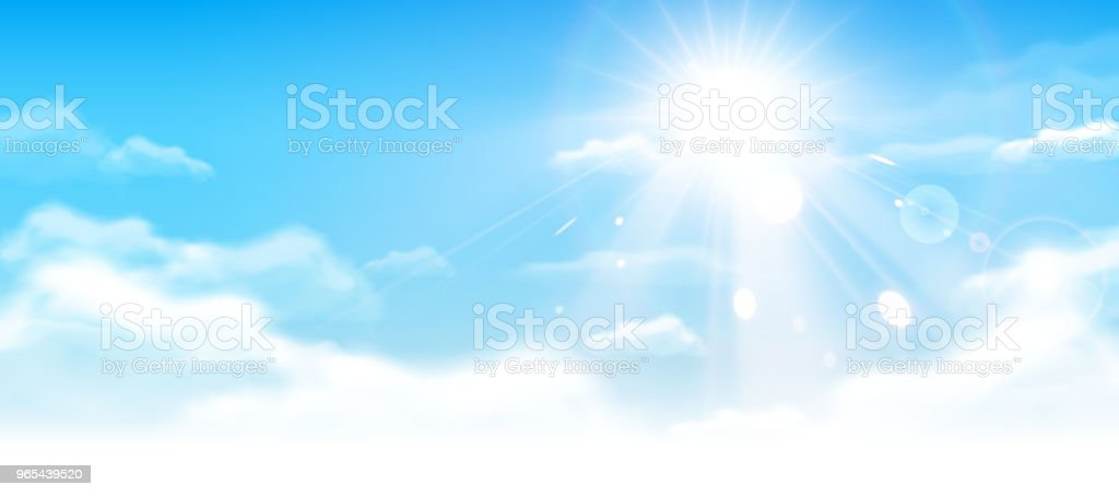 Blue sky with clouds royalty-free blue sky with clouds stock vector art & more images of abstract