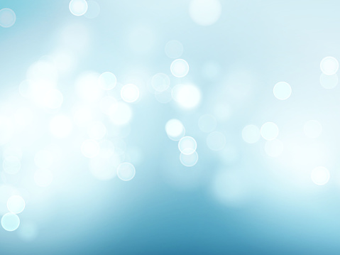 Blue sky with lens flare and bokeh pattern background. Vector illustration