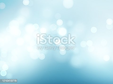 Blue sky with lens flare and bokeh pattern background. Vector illustration EPS10