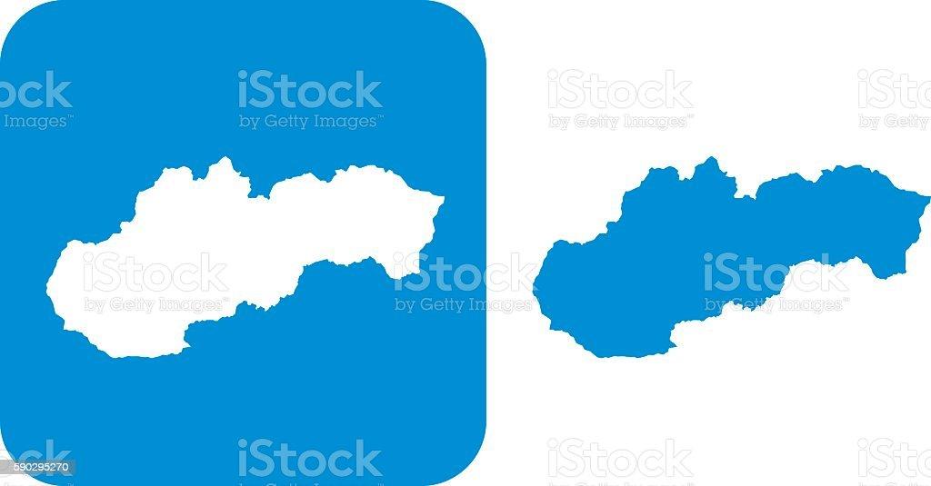 Blue Slovakia Icons royaltyfri blue slovakia icons-vektorgrafik och fler bilder på blå